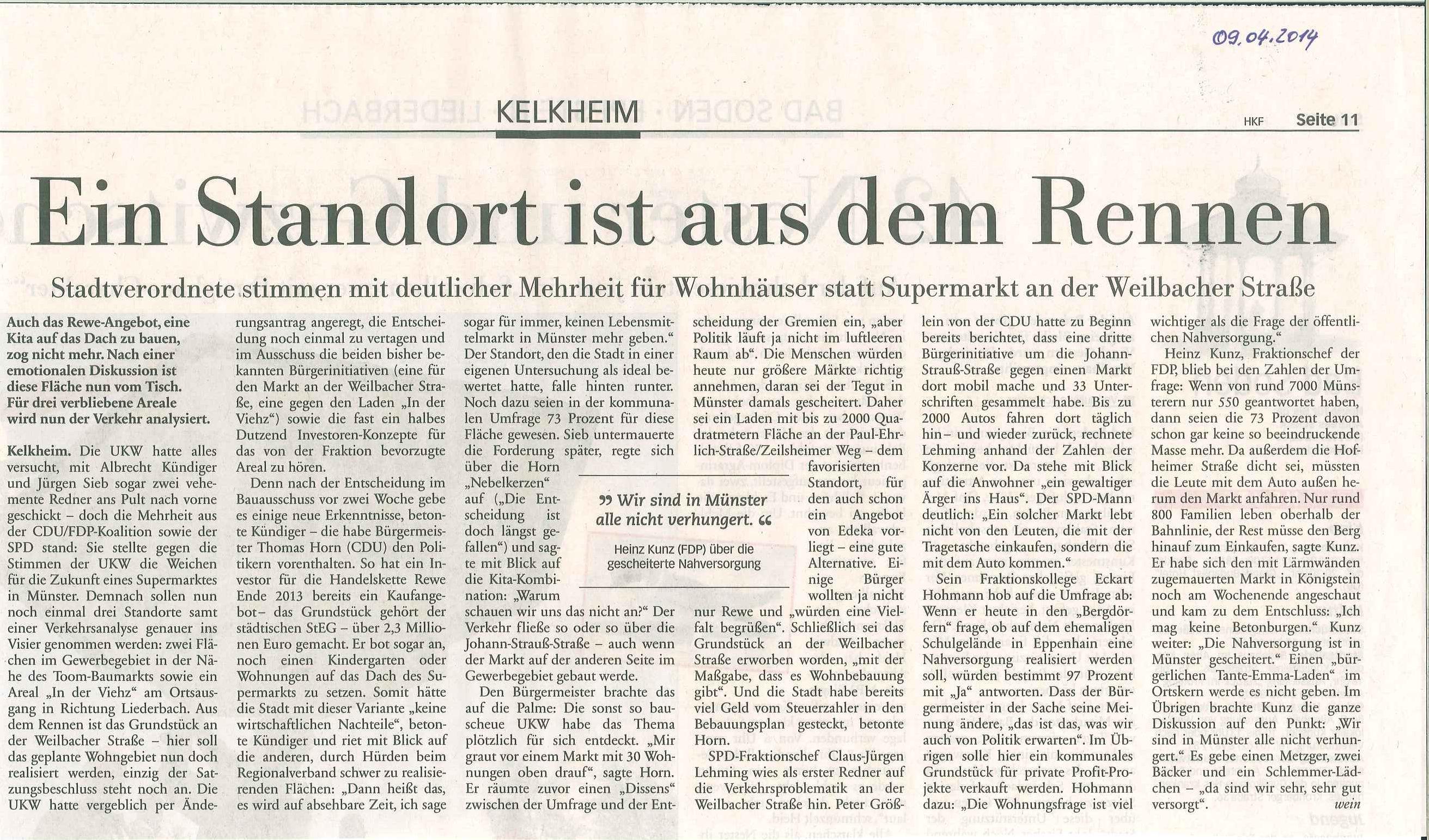 Presse: 09.04.2014 · Bürgervereinigung Alt-Münster e.V.