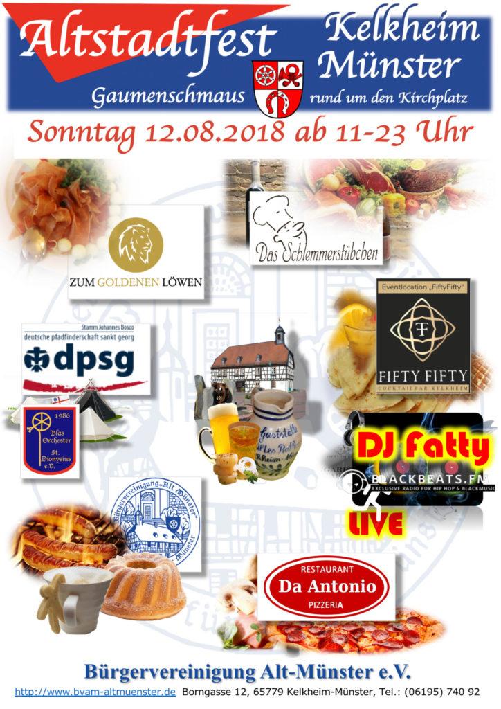 Flyer: Altstadtfest 2018 ⁜ BVAM ⁜ Bürgervereinigung Alt-Münster e.V.