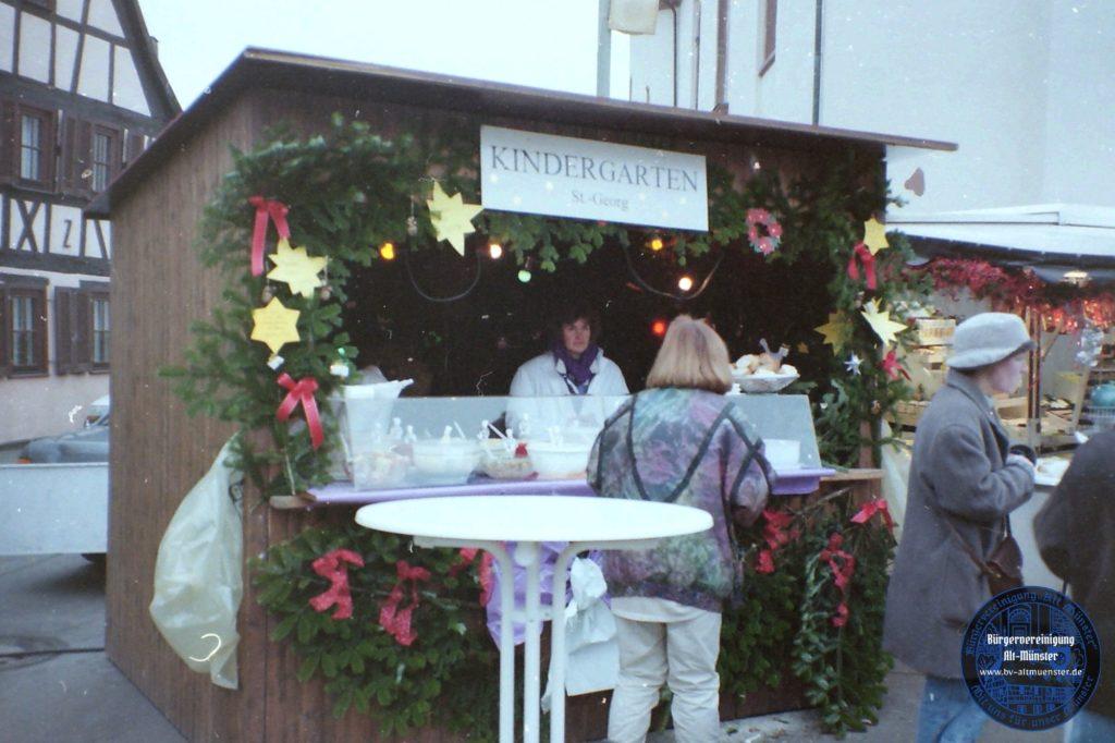 1995 & 1996: Weihnachtsmarkt · BVAM · Bürgervereinigung Alt-Münster e.V.