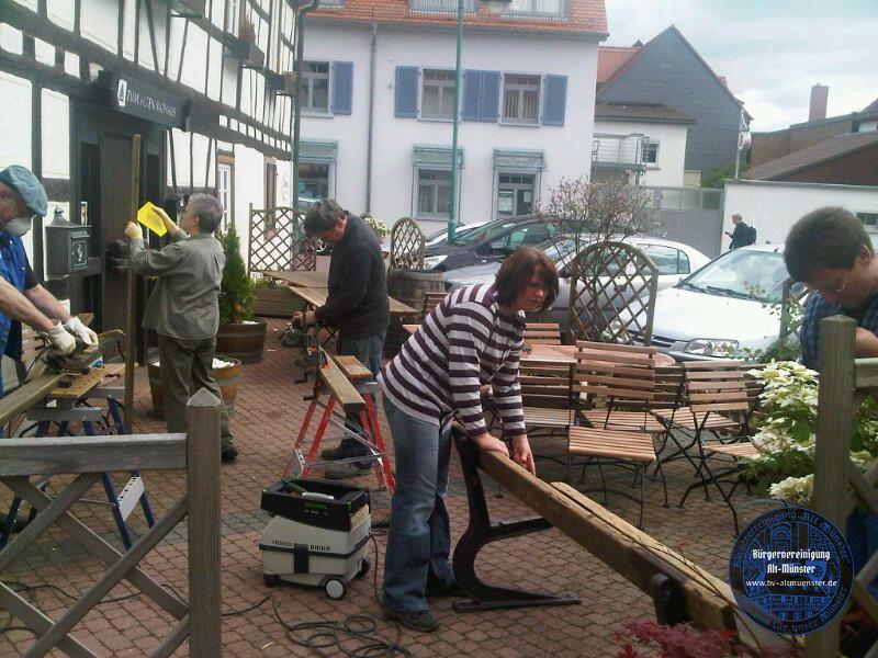 2012: Renovierung unserer Bank · BVAM · Bürgervereinigung Alt-Münster e.V.
