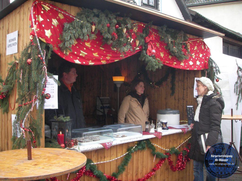2012: Weihnachtsmarkt · BVAM · Bürgervereinigung Alt-Münster e.V.
