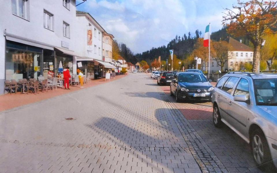 Foto Pflasterung in St Blasien im Schwarzwald so soll es nach den Vorstellungen der Bürgervereinigung Alt-Münster vielleicht auch irgendwann in Münster aussehen