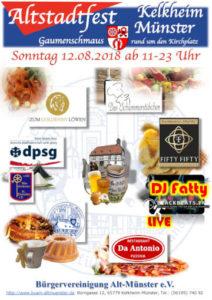 Flyer: Altstadtfest 2018 (klein) ⁜ BVAM ⁜ Bürgervereinigung Alt-Münster e.V.