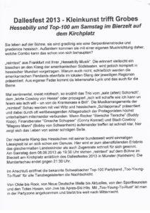 Dallesfest 2013: Reimtext · Bürgervereinigung Alt-Münster e.V.