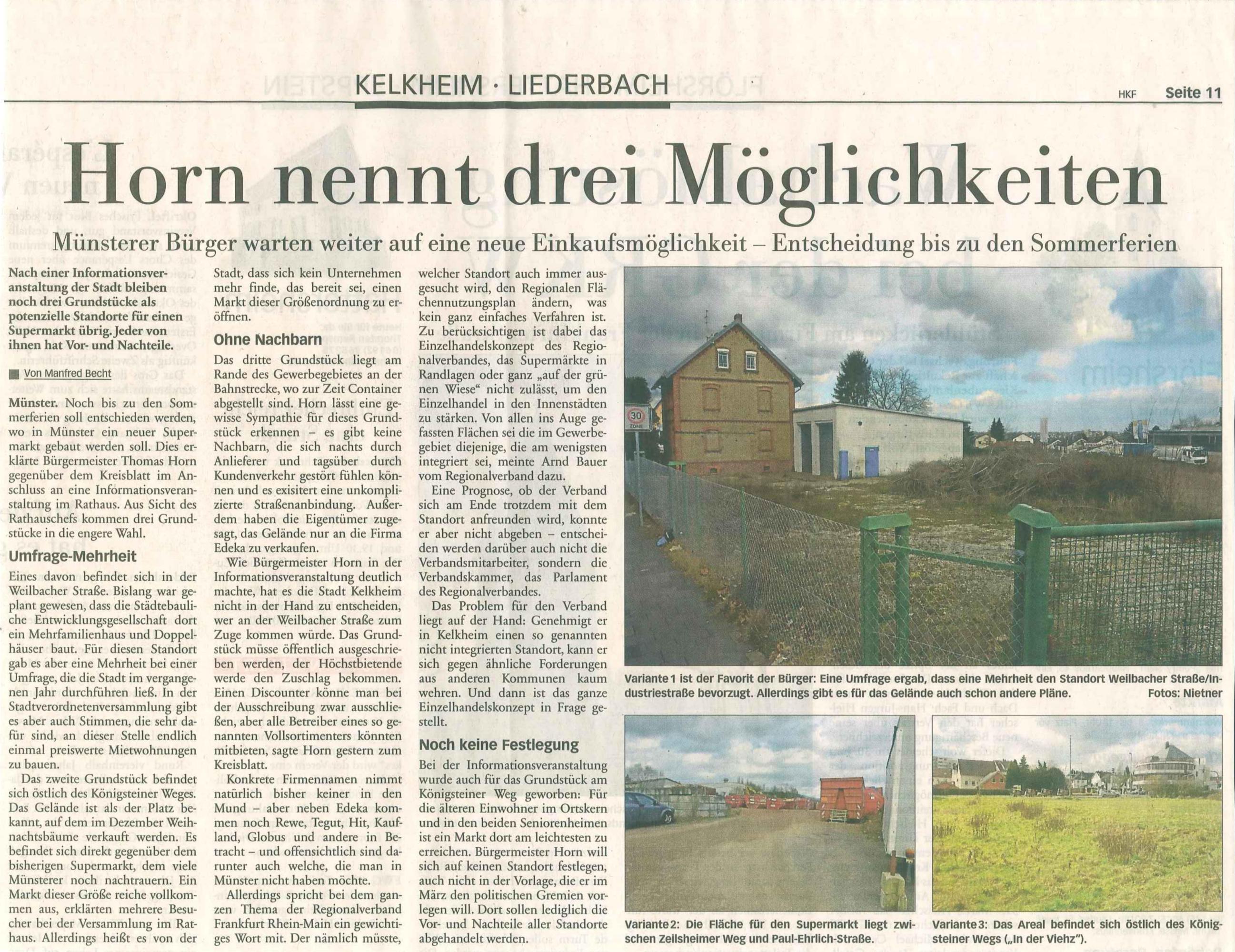 Presse: 21.01.2014 · Bürgervereinigung Alt-Münster e.V.