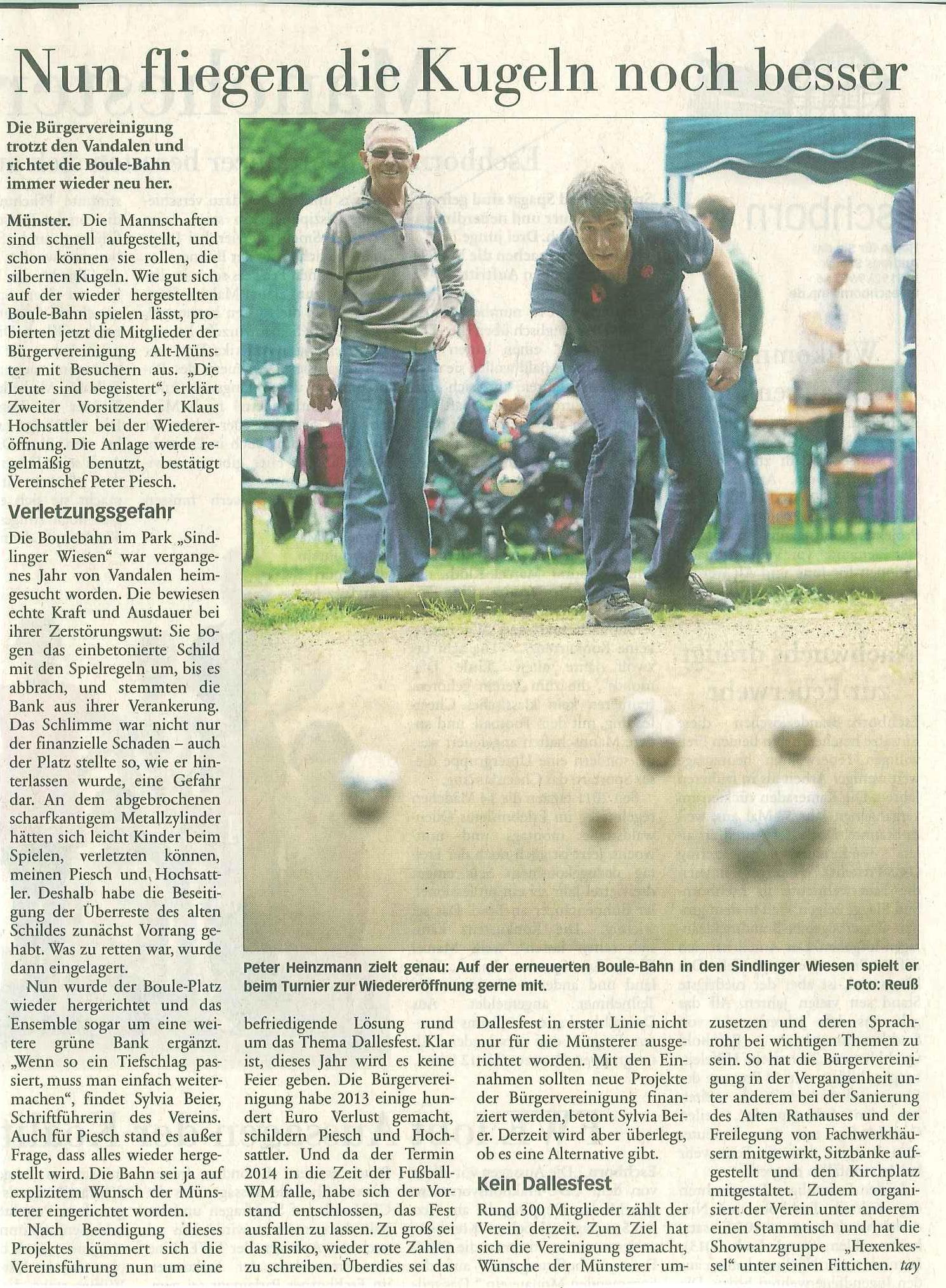 Presse: 14.05.2014 · Bürgervereinigung Alt-Münster e.V.