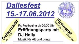 Poster: Dallesfest 2012 (16:9) ⁜ BVAM ⁜ Bürgervereinigung Alt-Münster e.V.