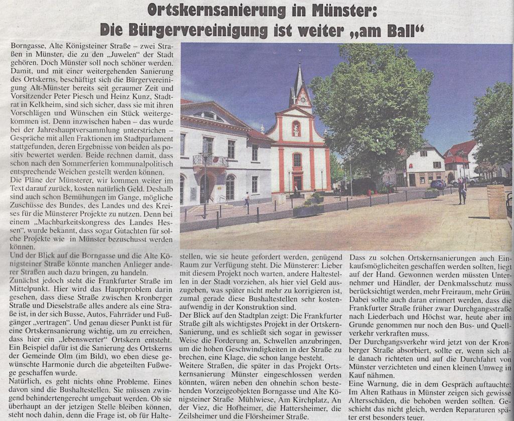 Presse: 18.03.2019 · Bürgervereinigung Alt-Münster e.V.