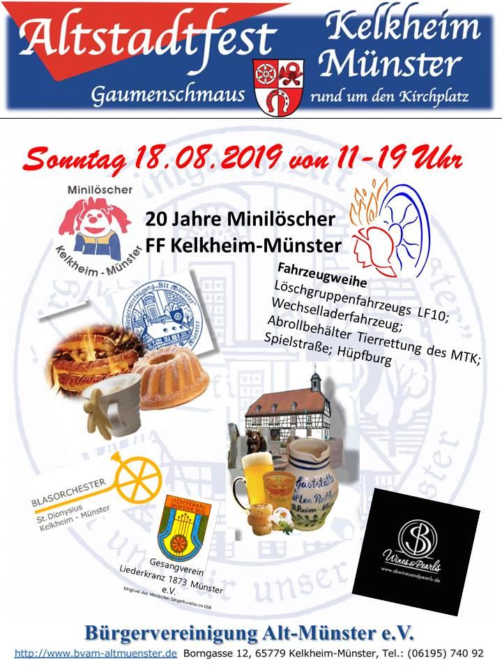 Poster: Altstadtfest 2019 ⁜ BVAM ⁜ Bürgervereinigung Alt-Münster e.V.